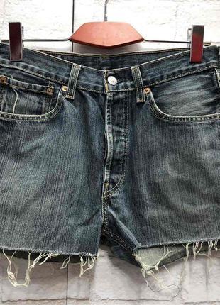 Винтажные джинсовые шорты на высокой посадке levis (2160)
