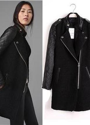 Стильное пальто/ пальто  черное/пальто шерсть