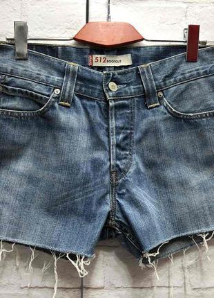 Винтажные джинсовые шорты на высокой посадке levis (2161)