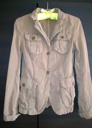 Massimo dutti пиджак в стиле милитари