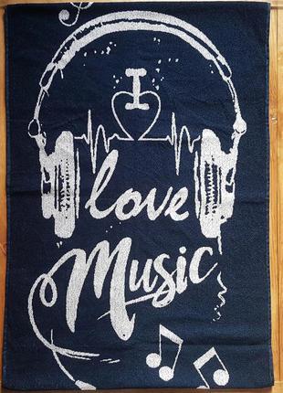 """Полотенце махровое """"love music"""" 67*150"""