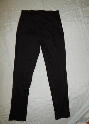 H&m брюки стильные модные чёрные на девочку 12-13 лет