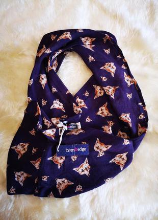 Хомут шарф вискоза принт лисицы