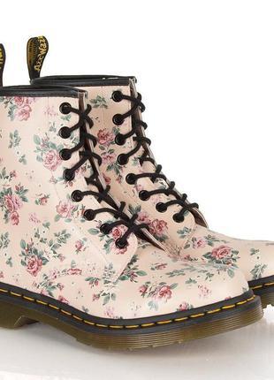 Ботинки в стиле dr.martens цветочный принт😱😍