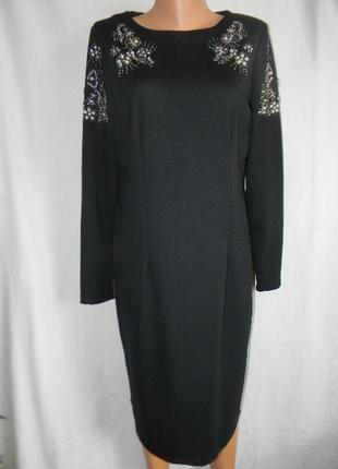 Осеннее платье с вышивкой бусинами myleene klass