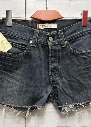 Винтажные джинсовые шорты на высокой посадке levis (2167)