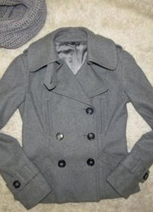 Класное шерстяное короткое пальто, полу пальто
