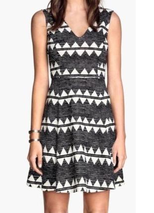 Трикотажное платье с юбкой клеш h&m, размеры s и l