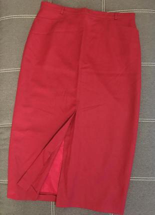 Стильная длинная юбка карандаш макси большого размера/100% шер...