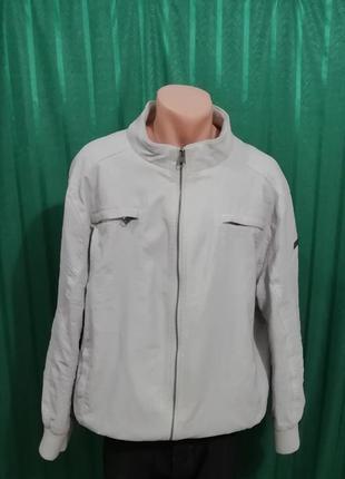 Кожаная светлая куртка из германии identic man