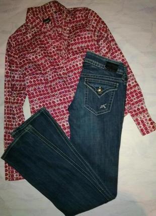 Guess винтажные брендовые джинсы  с пуговицами со стразами