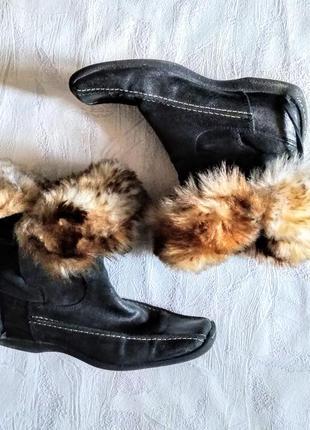 Görtz ботинки с опушкой нубуковые осень