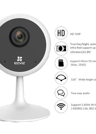 Ezviz CS-C1C (D0-1D2WFR) 2Мп, Wi-Fi, MicroSD (до 256 Гб)