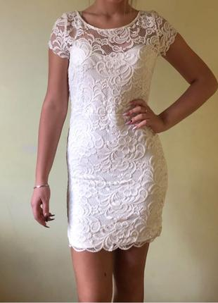 Платье гипюровое бренд H&M