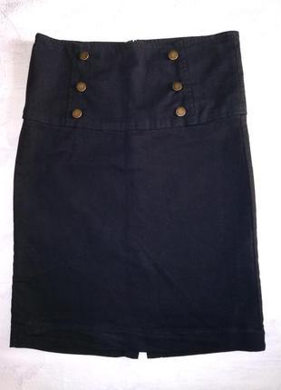 Zara стильная, трендовая юбка с высокой талией///