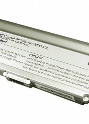 Аккумулятор Sony VGP-BPS9B VAIO VGN-NR260E 11.1V Silver 7800mAh
