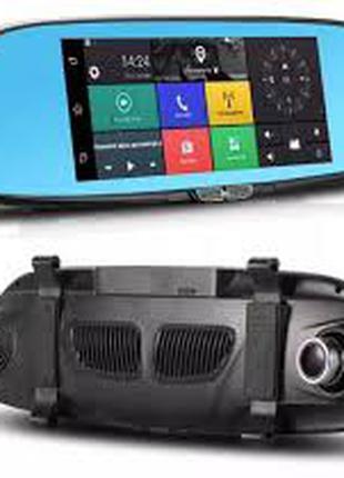 Зеркало регистратор К36 Android 2 камеры Wi-Fi GPS