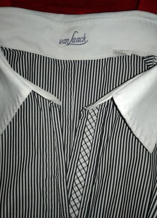 Van laack рубашка брендовая в мелкую полосочку