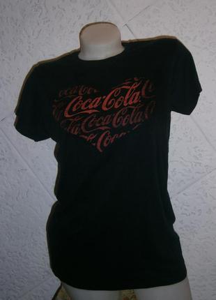 Симпатичная футболка хлопок кока кола coca cola  лого сердечко...