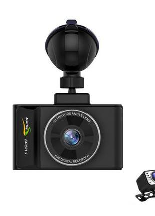 Видеорегистратор 2 камеры ASPIRING EXPERT 5 Dual, WI-FI, GPS, ...