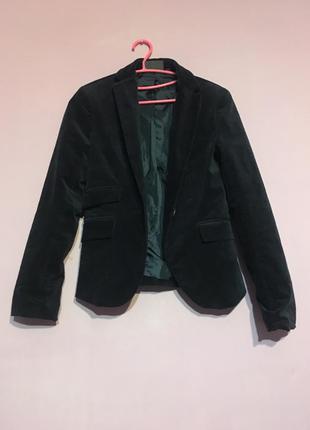 Винтажный импортный темно синий пиджак натуральная замша замш ...