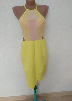 Модное платье асимметричная юбка