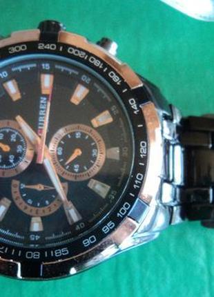 Часы Curren новые мужские наручные на металлическом браслете