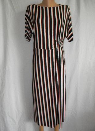 Стильное новое трикотажное платье warehouse
