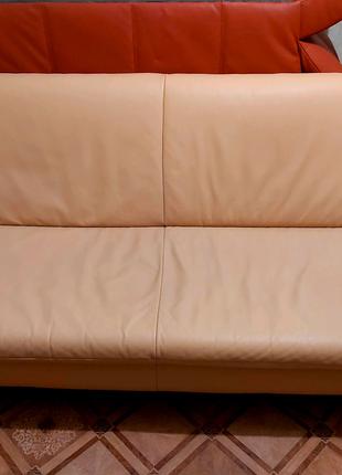 Диван+кресло кожаные Koinor