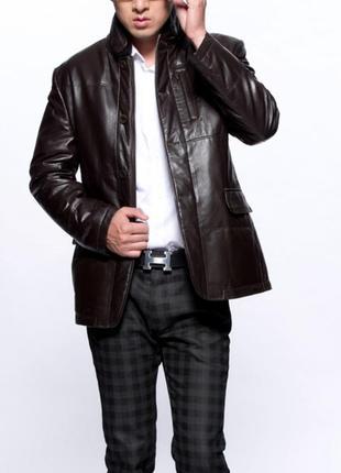 Кожаный блейзер/кожаная куртка пиджак/тренч от gap коричневый-s-m