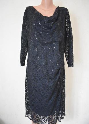 Красивое кружевное платье с пайетками большого размера debenhams