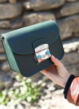 Кожаная сумка в стиле furla клатч фурла