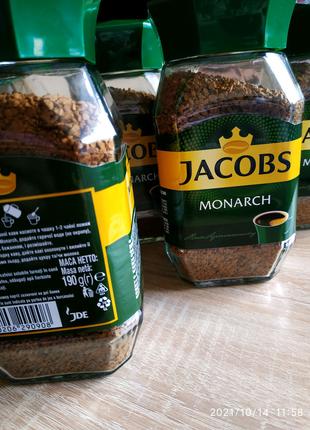 """сублимированный кофе """"Jacobs Monarch"""" 190g. cт/банка"""