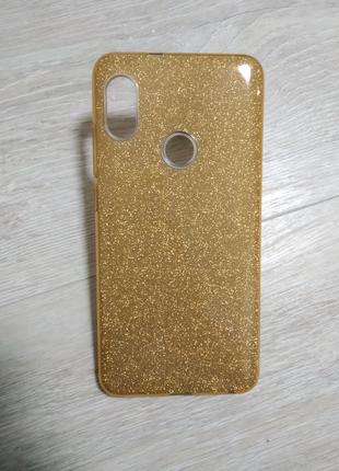Xiaomi Redmi Note 5 чехол силиконовый с блестками