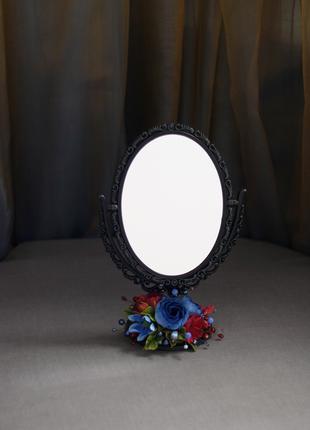 Подарочное зеркало с цветами.