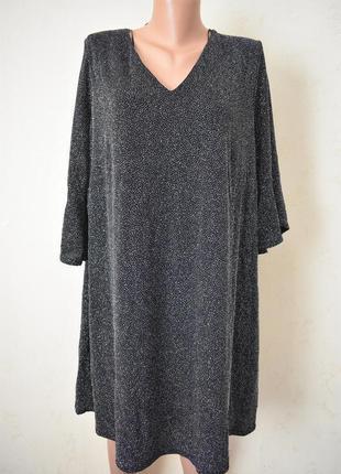 Красивое нарядное блестящее платье - трапеция большого размера...