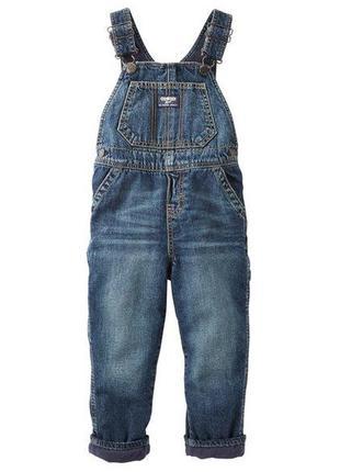 Детский джинсовый комбинезон на мальчика на флисе фирмы oshkosh