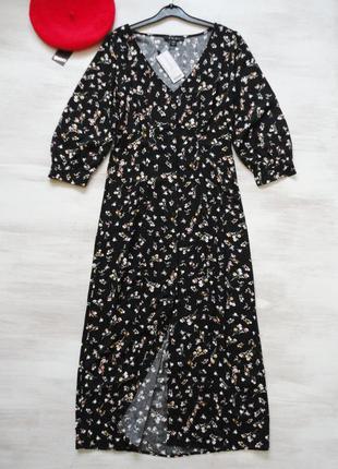 Платье amisu длинное, на пуговицах до низа, вискоза, все разме...