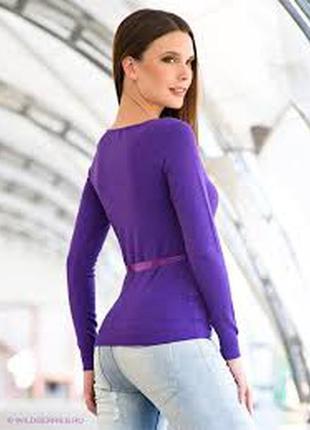 Кофточка фиолетового цвета