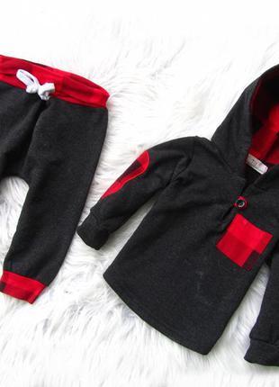 Комплект костюм кофта реглан  бомбер брюки штаны с капюшоном