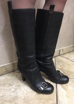 41 Dior женские кожаные сапоги