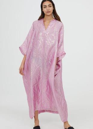 Кафтан платье из смесового шелка h&m