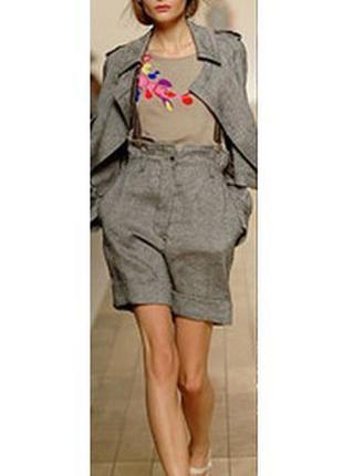 Тёплые, стильные шорты с высокой талией