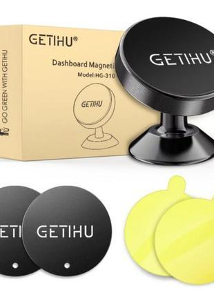 """Магнитный держатель для телефона 3.5""""-7"""" GETIHU Black/Silver"""