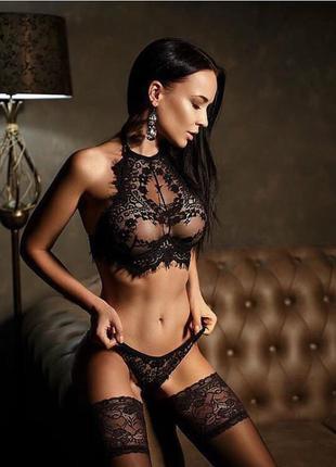 Комплект нижнего белья lace черный