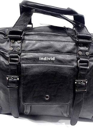 Качественная дорожная кожаная сумка. мужская городская сумка. ...