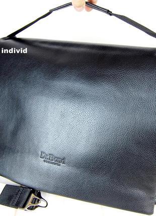 Мужской портфель bond. кожаная сумка мужская для документов.