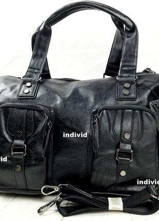 Городская мужская сумка. кожаная сумка в поездку. дорожная сум...