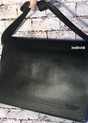 Кожаный портфель bond. мужская сумка бонд для документов. сумк...