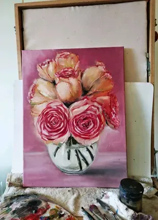 Картина маслом написана художником